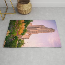 Pittsburgh Cathedral Of Learning Flower Garden Rug