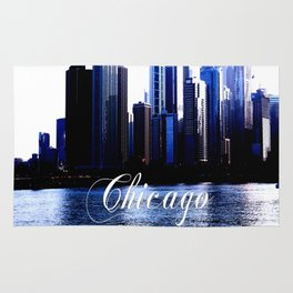 Abstract of Downtown Chicago effects Rug