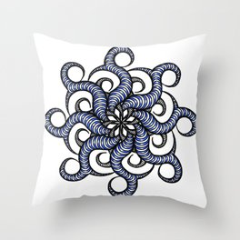 Reverse in blue Throw Pillow