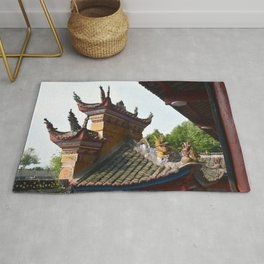 China Roof Top Photo Rug