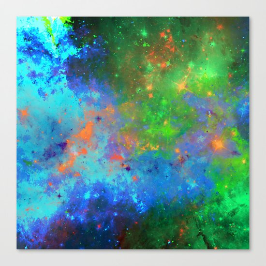 Speed Of Light - Abstract space painting Canvas Print