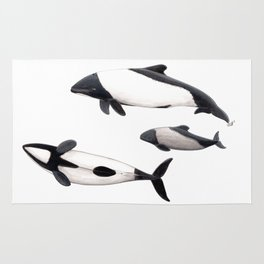 Commerson´s dolphins Rug