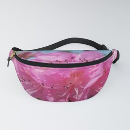 Rosy Rhododendron Flowers Fanny Pack