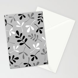 Assorted Leaf Silhouettes Monochrome Stationery Cards