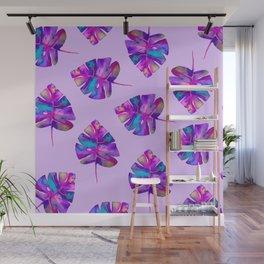 Magical Monstera Purple Wall Mural