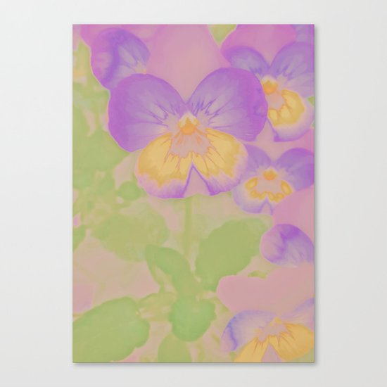 Pansies, The Earth Laughs In Flowers Canvas Print
