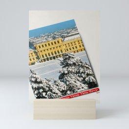 Affiche Travel Poster Vienna Schonbrunn Palace Under Snow Mini Art Print
