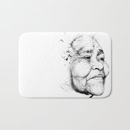"""Gabriela"" of the Kaweskar People B+W Bath Mat"