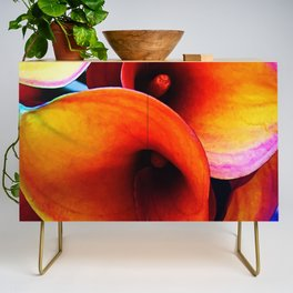 Orange Calla Lillies Credenza