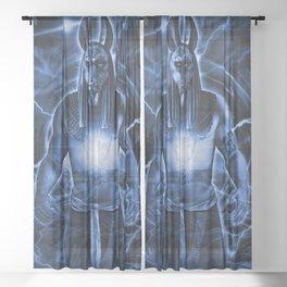 LORD ANUBIS Sheer Curtain