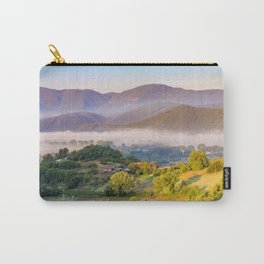 Mist in the valleys, Umbria, Italy Carry-All Pouch