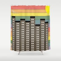 equality Shower Curtains featuring City of Equality by Tammy Kushnir