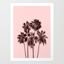 Palms on Blush Art Print