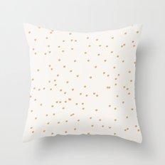 Dashing dots - tan Throw Pillow