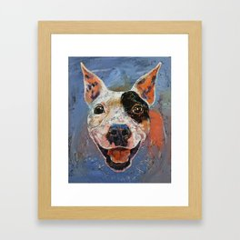 Happy Pitbull Framed Art Print