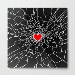 Heartbreaker III Black Metal Print