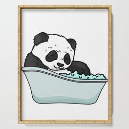 Bathtub panda Serving Tray