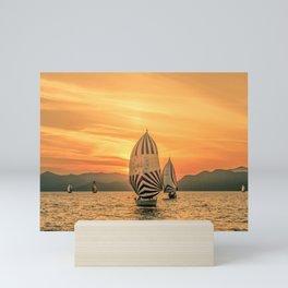 Sun regatta Mini Art Print