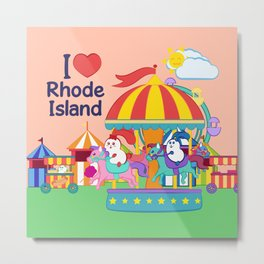 Ernest and Coraline | I love Rhode Island Metal Print