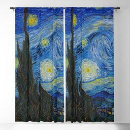 The Starry Night Vincent van Gogh 1889 Oil on canvas Blackout Curtain