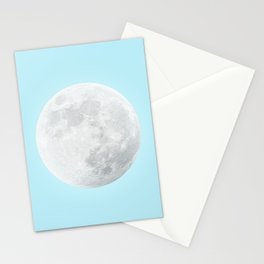 WHITE MOON + BLUE SKY Stationery Cards