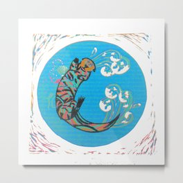 C-Otter Metal Print