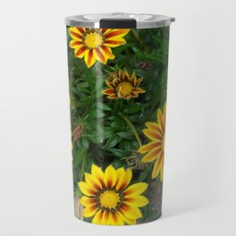 African Daisies Striped Travel Mug