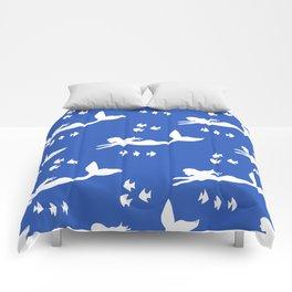 Mermaid Pattern Navy Blue Comforters
