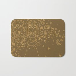 Autumn drawing Bath Mat