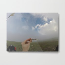 Analog Cloud Label  Metal Print