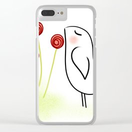 Love Birds - Scented Garden Clear iPhone Case