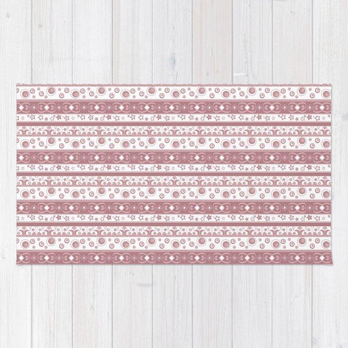 Geometric pattern , pattern pink Rug