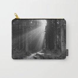 Into the Light in Monochrome Carry-All Pouch