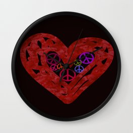Heart Full Of Peace  Wall Clock