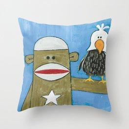 Sock Monkey 301 Throw Pillow