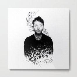 Thom Yorke - Ballpoint Pen Illustration Metal Print