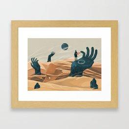 The wanderer and the desert portals Framed Art Print