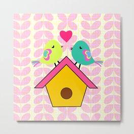 Cute birds- new home Metal Print