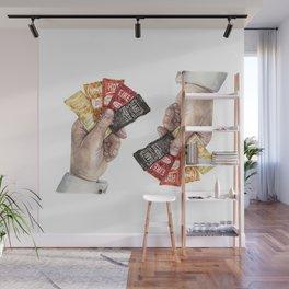 Hot Sauce Poker Hand - Taco Sauce Packets Wall Mural