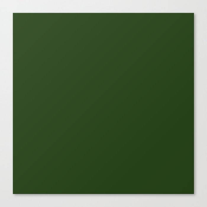 Solid Dark Forest Green Simple Color All Over Print Canvas