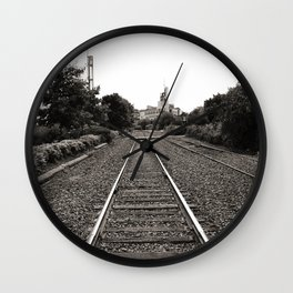 Railroad Tracks Wall Clock