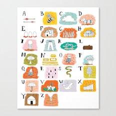 Illustrated ABC's Canvas Print