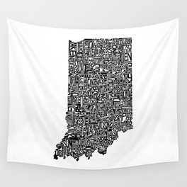 Typographic Indiana Wall Tapestry