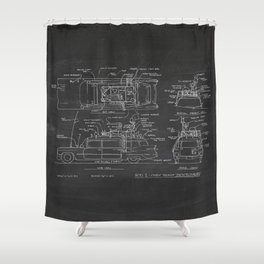 Car Ghostbusters Shower Curtain