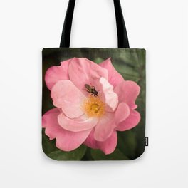A rose and the fly insect Tote Bag