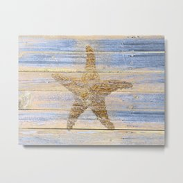 Starfish Beach Lake House Coastal Art A179 Metal Print