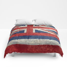 The State flag of Hawaii - Vintage version Comforters