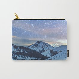Cold snowy mountain night Carry-All Pouch