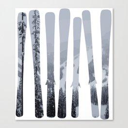 Morrisey Skis | Ski Designs | DopeyArt Canvas Print