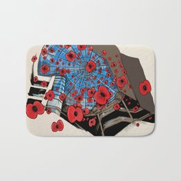 West Orchards Poppy Drop Bath Mat